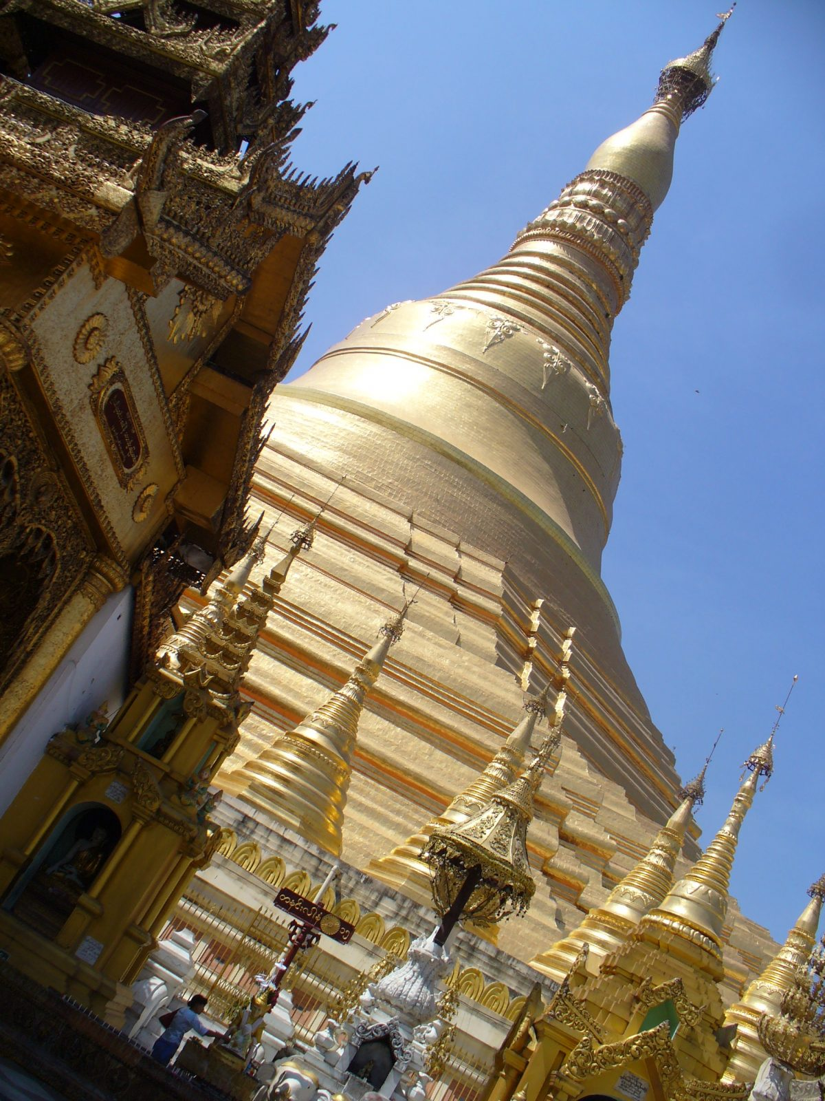 "Shwedagon Pagoda, Yangon (""the Ice Cream Cone Upside Down,"" as Parsi children used to call it in colonial Rangoon)"
